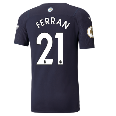 Manchester City Authentic 3rd Shirt 21/22 with Ferran Torres printing