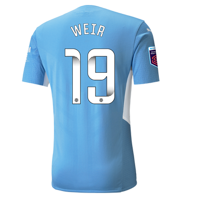 Manchester City Authentic Home Shirt 21/22 with Caroline Weir printing