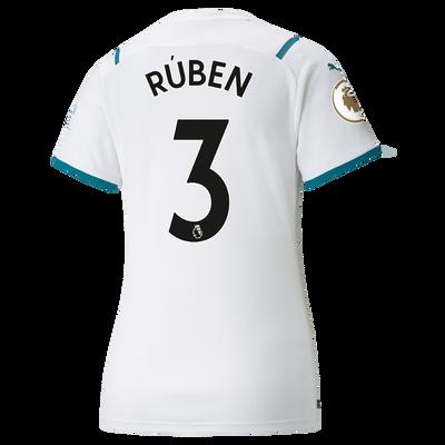 Womens Manchester City Away Shirt 21/22 with Rúben Dias printing