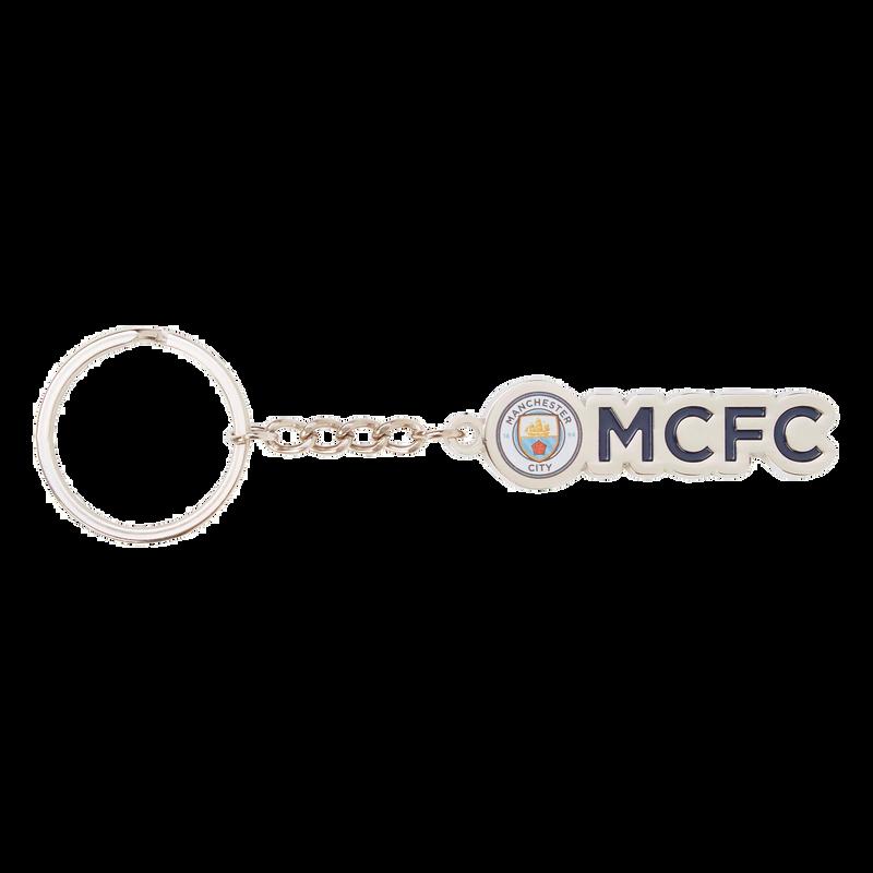 MCFC FW CREST KEYRING F - silver