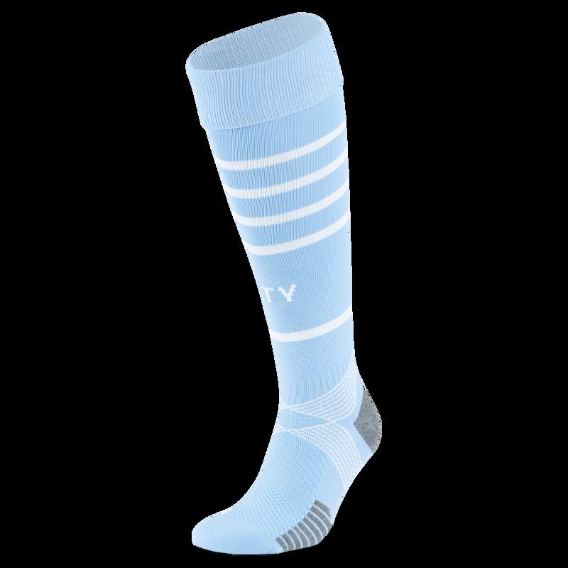 MCFC RP MENS TEAM HOOPED SOCKS - blue