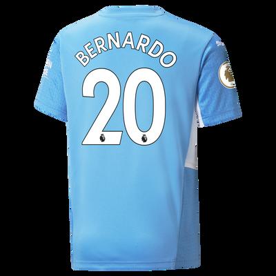 Kids Manchester City Home Shirt 21/22 with Bernardo Silva printing