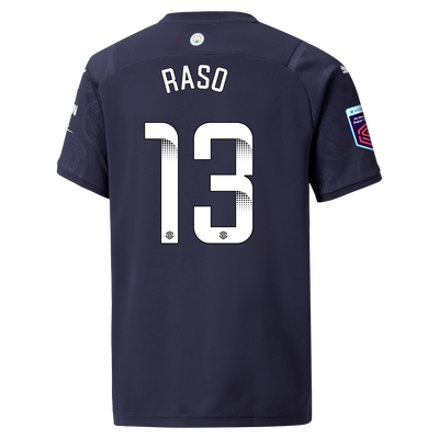 [Pre-order] Kids Manchester City 3rd Shirt 21/22 with Hayley Raso printing
