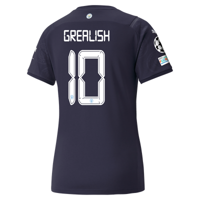 Womens Manchester City 3rd Shirt 21/22 with Jack Grealish printing
