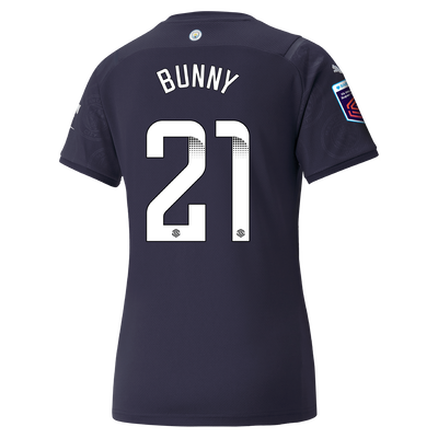 "[Pre-order] Womens Manchester City 3rd Shirt 21/22 with Khadija ""Bunny"" Shaw printing"