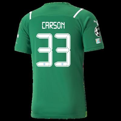 Manchester City Goalkeeper Shirt 21/22 with Scott Carson printing
