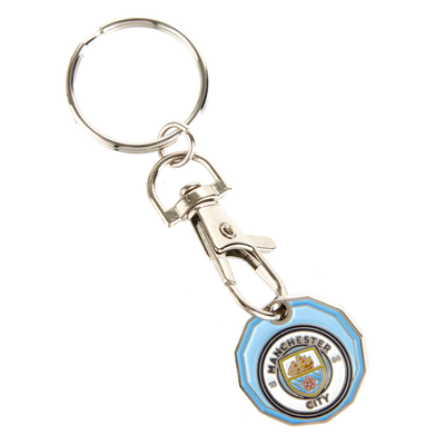 Manchester City Trolley Coin Keyring