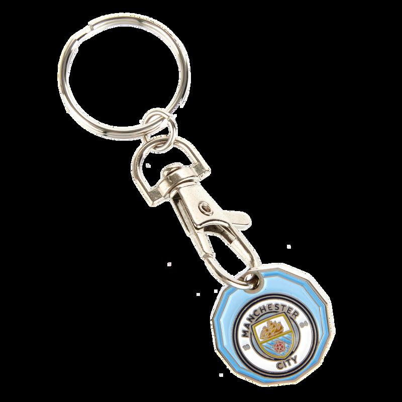 MCFC FW TROLLEY COIN KEYRING F - light blue