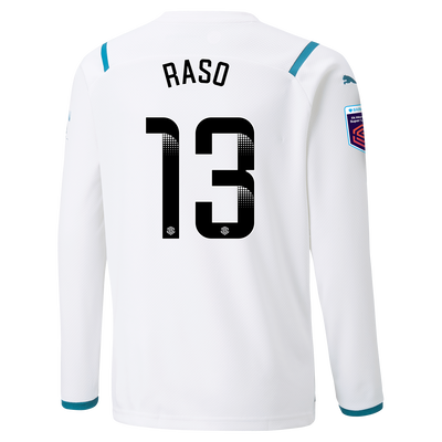 [Pre-order] Kids Manchester City Away Shirt Long Sleeve 21/22 with Hayley Raso printing
