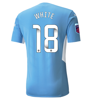 Manchester City Authentic Home Shirt 21/22 with Ellen White printing