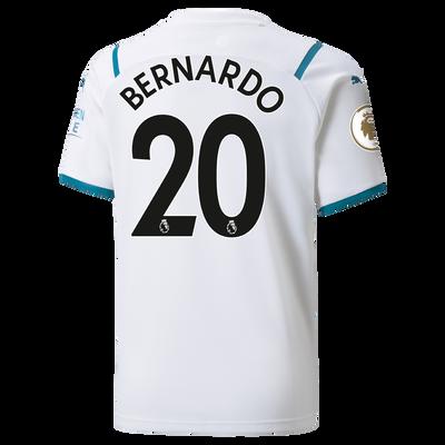 Kids Manchester City Away Shirt 21/22 with Bernardo Silva printing