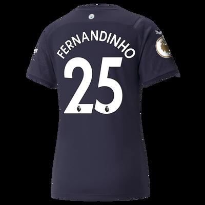 Womens Manchester City 3rd Shirt 21/22 with Fernandinho printing