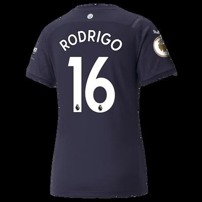Womens Manchester City 3rd Shirt 21/22 with Rodrigo printing