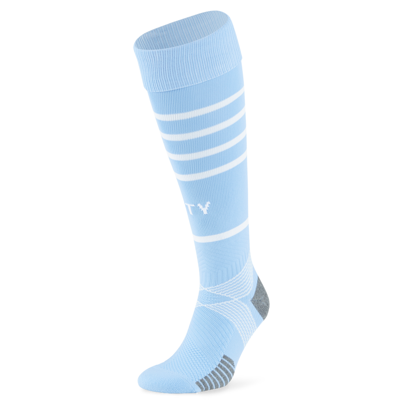 MCFC RP KIDS TEAM HOOPED SOCKS - blue