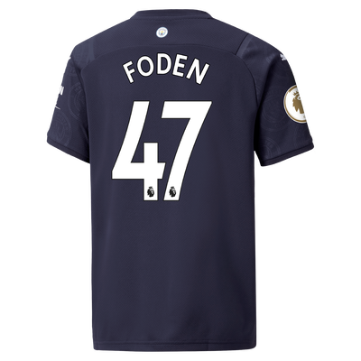 Kids Manchester City 3rd Shirt 21/22 with Phil Foden printing