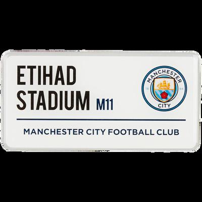 Manchester City Street sign magnet