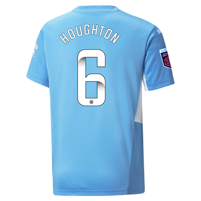 Kids Manchester City Home Shirt 21/22 with Steph Houghton printing