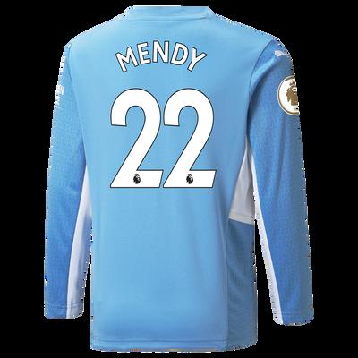 Manchester City Home Longsleeve Shirt 21/22 with Benjamin Mendy printing