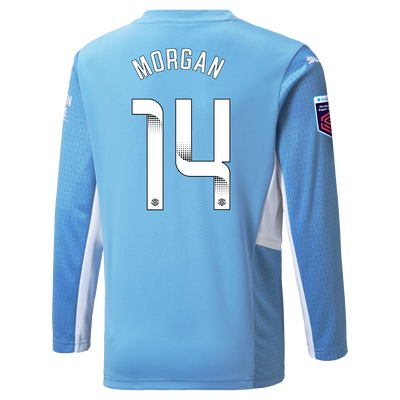 Manchester City Home Shirt Long Sleeve 21/22 with Esme Morgan printing