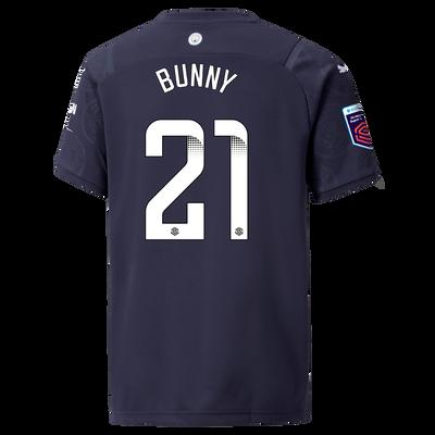 "[Pre-order] Kids Manchester City 3rd Shirt 21/22 with Khadija ""Bunny"" Shaw printing"