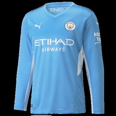 Kids Manchester City Home Longsleeve Shirt 21/22