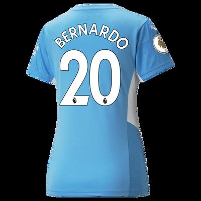 Womens Manchester City Home Shirt 21/22 with Bernardo Silva printing