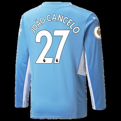 Manchester City Home Longsleeve Shirt 21/22 with João Cancelo printing