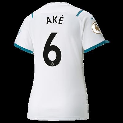 Womens Manchester City Away Shirt 21/22 with Nathan Aké printing