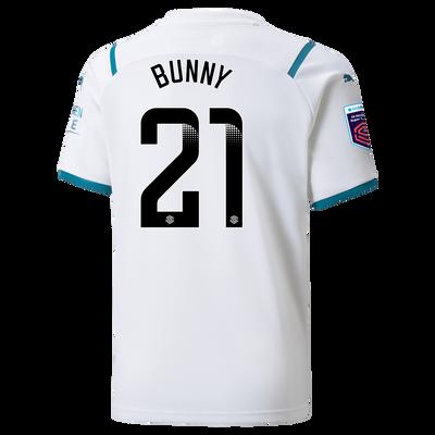 "[Pre-order] Kids Manchester City Away Shirt 21/22 with Khadija ""Bunny"" Shaw printing"