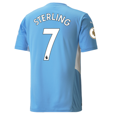 Manchester City Home Shirt 21/22 with Raheem Sterling printing