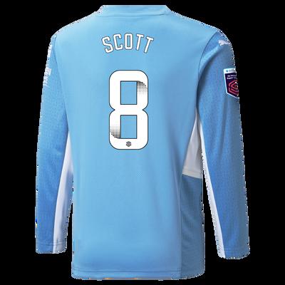 Manchester City Home Shirt Long Sleeve 21/22 with Jill Scott printing