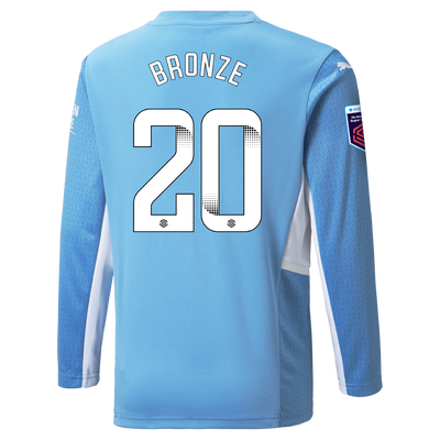 Manchester City Home Shirt Long Sleeve 21/22 with Lucy Bronze printing