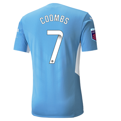 Manchester City Authentic Home Shirt 21/22 with Laura Coombs printing