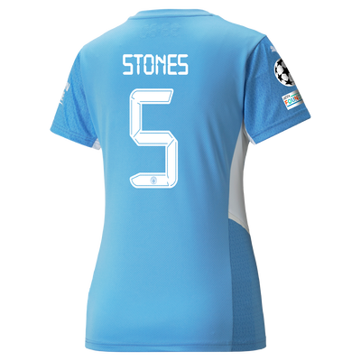 Womens Manchester City Home Shirt 21/22 with John Stones printing