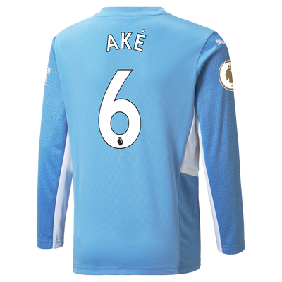Manchester City Home Longsleeve Shirt 21/22 with Nathan Aké printing