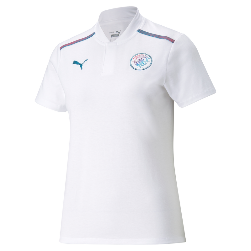MCFC LW WOMENS CASUALS POLO SS - white