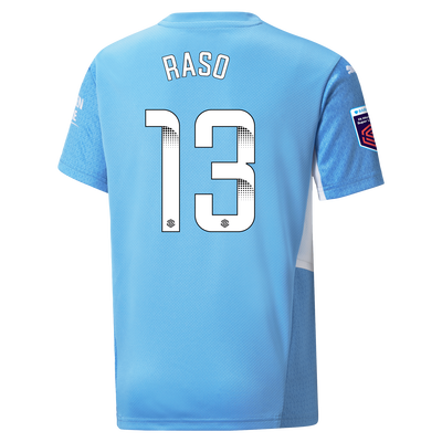 [Pre-order] Kids Manchester City Home Shirt 21/22 with Hayley Raso printing