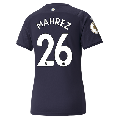 Womens Manchester City 3rd Shirt 21/22 with Riyad Mahrez printing