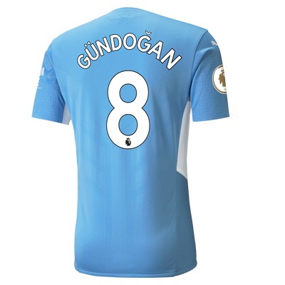 Manchester City Home Authentic Shirt 21/22 with İlkay Gündoğan printing