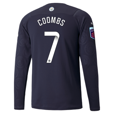Manchester City 3rd Shirt Long Sleeve 21/22 with Laura Coombs printing