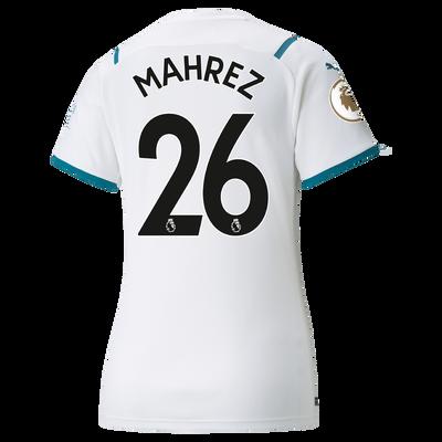 Womens Manchester City Away Shirt 21/22 with Riyad Mahrez printing