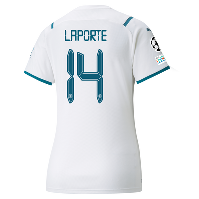 Womens Manchester City Away Shirt 21/22 with Aymeric Laporte printing