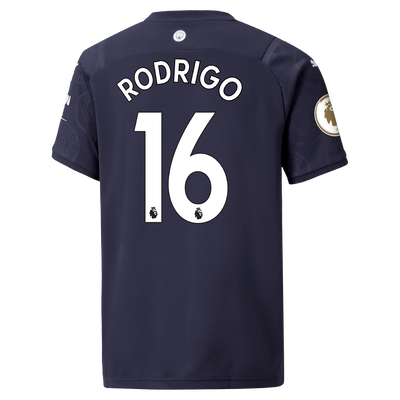 Kids Manchester City 3rd Shirt 21/22 with Rodrigo printing