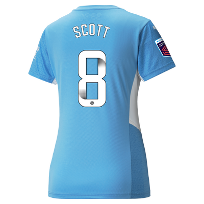 Womens Manchester City Home Shirt 21/22 with Jill Scott printing