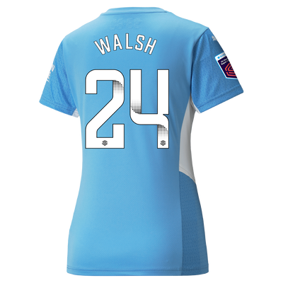 Womens Manchester City Home Shirt 21/22 with Keira Walsh printing