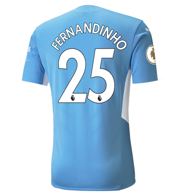 Manchester City Home Authentic Shirt 21/22 with Fernandinho printing