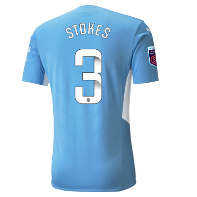 Manchester City Authentic Home Shirt 21/22 with Demi Stokes printing