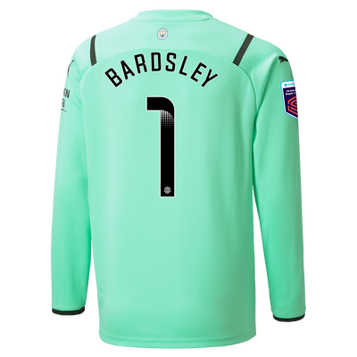 Kids Manchester City Goalkeeper Shirt 21/22 with Karen Bardsley printing