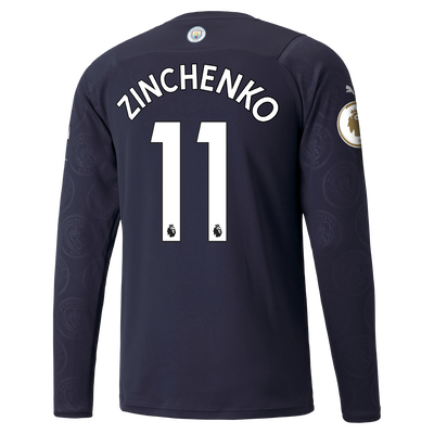 Manchester City 3rd Shirt Long Sleeve 21/22 with Oleksandr Zinchenko printing