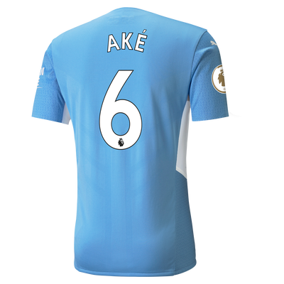 Manchester City Home Authentic Shirt 21/22 with Nathan Aké printing